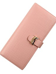 abordables -Mujer Bolsos Cuero Billeteras Botones / Detalles de Cristal Rosa