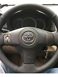 baratos -Capas para Volante couro legítimo 38cm Preto / Vermelho For Toyota RAV4 Todos os Anos