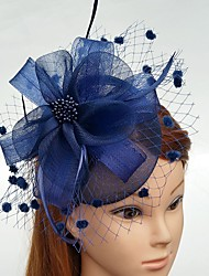 cheap -Feather Net Fascinators Flowers Hats with Feathers / Fur Floral 1pc Wedding Special Occasion Headpiece