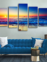 cheap -Canvas Print Rustic Modern, Five Panels Canvas Vertical Print Wall Decor Home Decoration