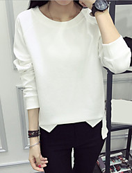 cheap -Women's Casual Long Sleeves Pullover - Solid Color, Sequins