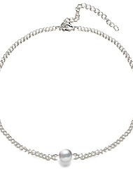 Недорогие -Жен. Искусственный жемчуг Ожерелья-бархатки - На каждый день Классический Ожерелье Назначение Повседневные Офис и карьера