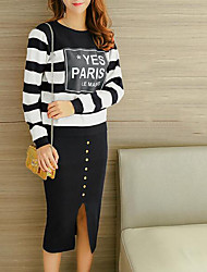 preiswerte -Damen Pullover - Gestreift Rock