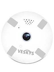 cheap -VESKYS® 960P 1.3MP 360 Degree Fish Eye Lens Wireless Wi-Fi Full View IP Camera Smart Camera for Home Security