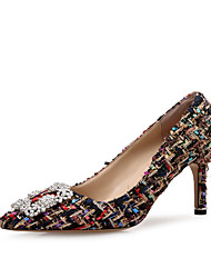 Недорогие -Жен. Обувь Искусственное волокно Материал на заказ клиента Весна Осень Удобная обувь Обувь на каблуках На шпильке Заостренный носок Стразы