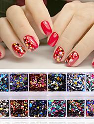 abordables -Nail Glitter Paillettes Accessoires Classique Briant Haute qualité Quotidien Nail Art Design