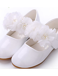 Pink flower girl shoes lightinthebox girls shoes synthetic microfiber pu spring fall comfort flower girl shoes flats for white pink mightylinksfo