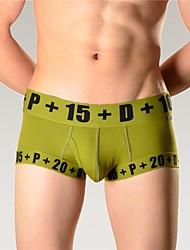 abordables -Hombre Microelástico Simple Fino Boxer,Algodón 1 Blanco Naranja Azul Marino Gris Verde Ejército