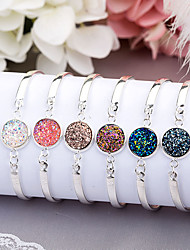 cheap -Women's Chain Bracelet Bracelet Multi-stone Synthetic Emerald Asian Classic Alloy Button Jewelry Birthday Going out Costume Jewelry
