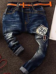 economico -Pantaloni Da ragazzo Cotone Modello Primavera Blu