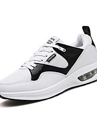 cheap -Men's Rubber Fall / Winter Comfort Athletic Shoes White / Black / Blue