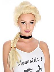 Недорогие -Парики из искусственных волос Волнистый Блондинка С конским хвостом Искусственные волосы Updo Блондинка Парик Жен. Длинные Без шапочки-основы