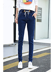 cheap -Women's Classic & Timeless Skinny Loose Jeans Pants - Solid Colored Solid Color Classic Style