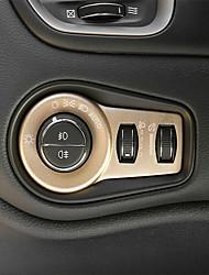 economico -copri pulsanti faro automobilistico per interni auto fai da te per jeep renegade in plastica
