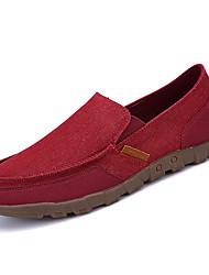 cheap -Men's PU(Polyurethane) Fall Comfort Loafers & Slip-Ons Red / Blue / Khaki