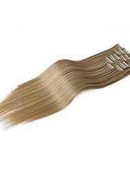 Недорогие -Наращивание волос Классика На клипсе Повседневные Высокое качество Накладки из натуральных волос