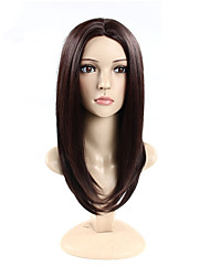 cheap -Others Straight Layered Haircut Synthetic Hair Natural Hairline Brown Wig Women's 24.4inch(Approx.62cm) Capless
