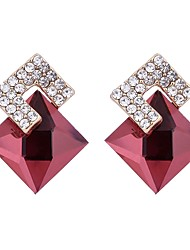 cheap -Women's Crystal Stud Earrings - Crystal, Zircon Basic Red / Royal Blue For Birthday / Gift