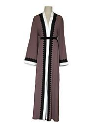 Недорогие -Мода Платье Кафтан Абайя Арабское платье Жен. Фестиваль / праздник Костюмы на Хэллоуин Розовый Цветочный принт