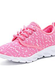 baratos -Para Meninas Sapatos Tule Materiais Customizados Verão Solados com Luzes Conforto Tênis Corrida Rendado Cadarço para Atlético Casual