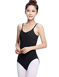 cheap -Ballet Leotards Women's Performance Acrylic Pleated Sleeveless Natural Leotard