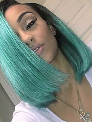 cheap -Guanyuwigs® 3Bundles Brazilian Virgin Hair With one 4*4 Lace Closure 1B/Green Ombre Hair