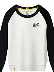 cheap -Men's Sports Sweatshirt - Solid, Print Round Neck