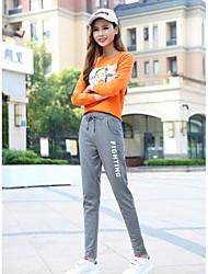 cheap -Women's Cotton Sweatpants Pants Print