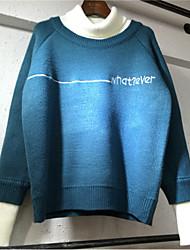 preiswerte -Damen Standard Pullover-Alltag Einfarbig Rollkragen Langarm Polyester Alle Jahreszeiten Dünn Dehnbar