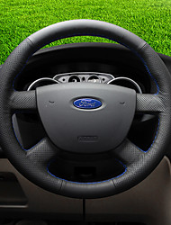 cheap -Steering Wheel Covers Genuine Leather 38cm Blue / Black / Red For Ford Escort / Mondeo / Edge All years