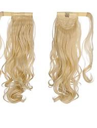 Недорогие -Кулиска Конские хвостики Оберните вокруг Натуральные волосы Волосы Наращивание волос Волнистый