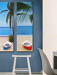 baratos -Tela de impressão Rústico Modern, 2 Painéis Tela de pintura Vertical Estampado Decoração de Parede Decoração para casa