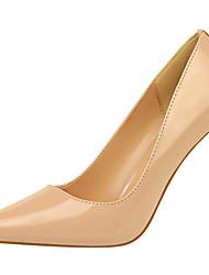 abordables -Femme Chaussures Cuir Verni Printemps / Automne Gladiateur / Escarpin Basique Chaussures à Talons Talon Aiguille Bout pointu Jaune /
