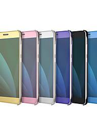 preiswerte -Hülle Für Samsung Galaxy J7 (2017) J5 (2017) Beschichtung Spiegel Flipbare Hülle Volltonfarbe Hart für