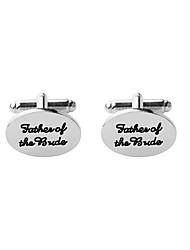 cheap -Circle Silver Cufflinks Alloy Formal Simple Classic Elegant Wedding Party Engagement Business / Ceremony / Wedding Men's Costume Jewelry