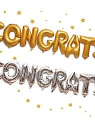 cheap -Graduation / Party / Evening Aluminum Foil Wedding Decorations Birthday / Friends / School/Graduation / Wedding All Seasons