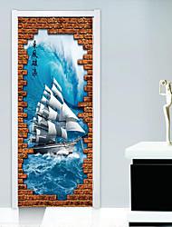 baratos -Paisagem Transporte Adesivos de Parede Autocolantes de Aviões para Parede Autocolantes 3D para Parede Autocolantes de Parede Decorativos