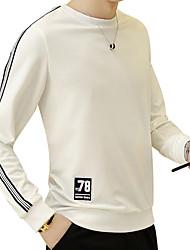 Pánské Jednobarevné Denní Sport Jednoduchý Šik ven Tričko Jaro Podzim Polyester Spandex Kulatý Dlouhý rukáv