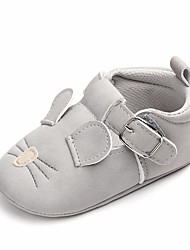 cheap -Girls' Shoes Leatherette Spring Comfort / First Walkers / Crib Shoes Flats Bowknot / Magic Tape for Dark Grey / Light Grey