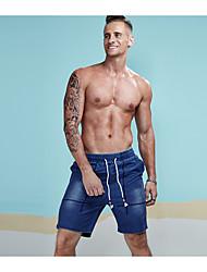 cheap -Men's Shorts Jeans Pants - Solid, Hole