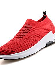 economico -Per uomo Scarpe A maglia Primavera Autunno Comoda scarpe da ginnastica Corsa per Sportivo Nero Grigio chiaro Rosso