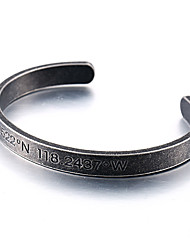 cheap -Men's Bangles - Stainless Steel Hip-Hop Bracelet Black For Daily