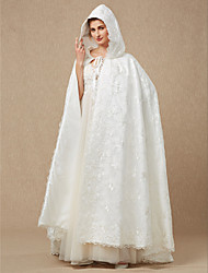 cheap -Sleeveless Lace / Satin Wedding / Party / Evening Women's Wrap With Lace / Cap / Lace-up Capes