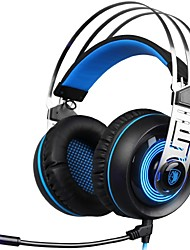 cheap -SADES A7-3 Headband Wired Headphones Dynamic Plastic Gaming Earphone with Microphone Headset