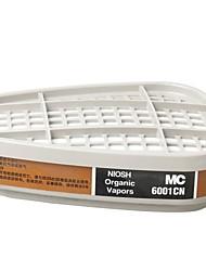 baratos -2pcs 6001cn cartuchos de máscara de gás químico anti-vapor orgânico cartucho respiratório pintura álcool máscara