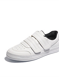 Homens sapatos Micofibra Sintética PU Primavera Outono Conforto Tênis para Casual Branco Preto