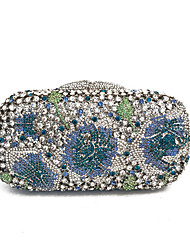 Недорогие -Жен. Мешки Металл Вечерняя сумочка Кристаллы Синий