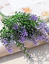 baratos -Flores artificiais 2 Ramo Pastoril Estilo Plantas Flor de Mesa