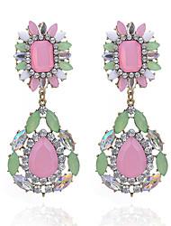 abordables -Femme Opale Boucles d'oreille goutte - Opale, Imitation Diamant Goutte Mode, Elégant Rose Pour Soirée / Fête scolaire