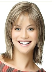 cheap -Synthetic Wig Straight Bob Haircut Blonde Capless Celebrity Wig Natural Wigs Synthetic Hair
